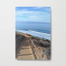 Sandy Trail Hike Metal Print