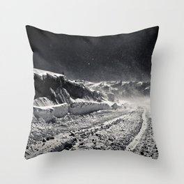 B&W Snow Background Throw Pillow