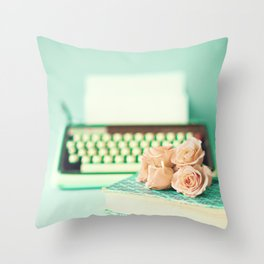 Typing With Love Throw Pillow