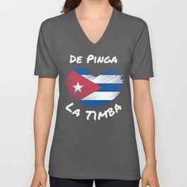 De Pinga - La Timba - I love Cuban Music Unisex V-Neck