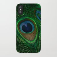 peacock iPhone & iPod Cases featuring Peacock by Olivia Joy StClaire