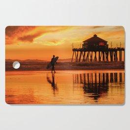 HB Sunset Surfer 12-16-18 Cutting Board