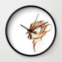 bambi Wall Clocks featuring bambi by starlightcafe_