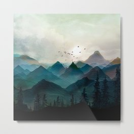 Mountain Sunrise II Metal Print
