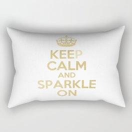 Keep Calm & Sparkle On Rectangular Pillow
