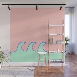 Sea Foam-o (Millennial Pink Edition) Wall Mural