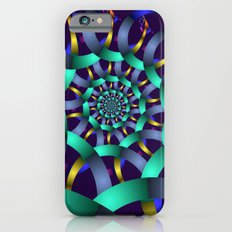 The turquoise spiral iPhone 6s Slim Case