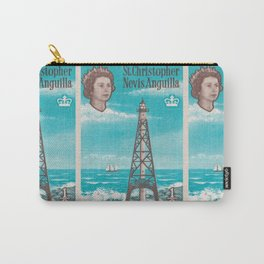 Sombrero light house, Nevis Anguilla british post stamp Carry-All Pouch