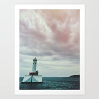 Harbor on Huron Art Print