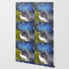 Wild waterfall in abstract Wallpaper