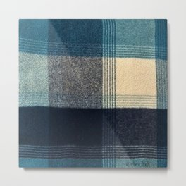 Abstract Flannel Metal Print