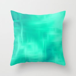 Aqua Texture Throw Pillow