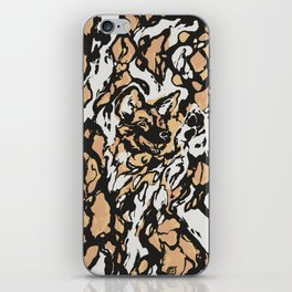 The Painted Wild Dog iPhone Skin
