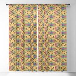 African kente pattern 6 Sheer Curtain