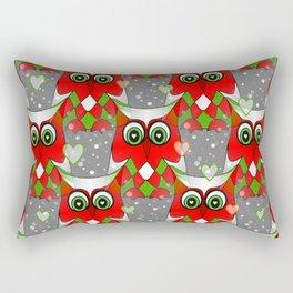 Festive Owl Rectangular Pillow