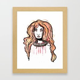 Silence Watercolor Painting by Grimmiechan Framed Art Print