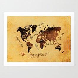 world map 75 Art Print