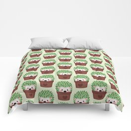 Hedgehogs disguised as cactuses Comforters