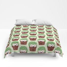 Hedgehogs disguised as cactuses Comforters