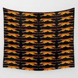 Leaping Tigers Wall Tapestry