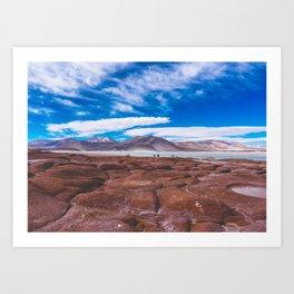 Piedras Rojas (Red Rocks), San Pedro de Atacama Desert, Chile Art Print