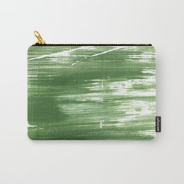 Fern green abstract watercolor Carry-All Pouch