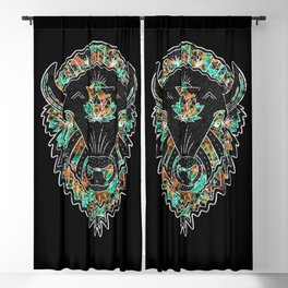 Modern American Bison Blackout Curtain