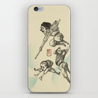 airbender iPhone & iPod Skins featuring Airbender Kids by OliLai