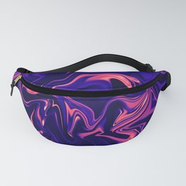 Abstract Marble Colorful Pattern Neon Coral Living Ultra Violet Blue Colors Fanny Pack