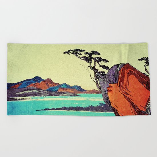 Waking from Winter Beach Towel