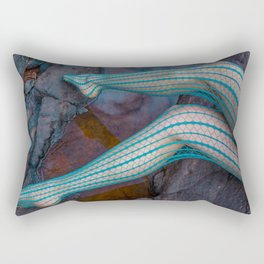 Teal Fishnets Rectangular Pillow
