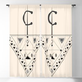 Moroccan and Algerian inspiration - Fubula and berber ornaments Blackout Curtain