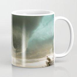 Beehive - Spiraling Storm Hovers Over Western Nebraska Landscape Coffee Mug