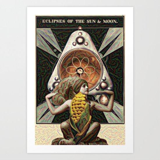 Corn Goddess Mystery Art Print By Iracarter