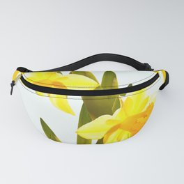Yellow Spring Flowers with Green Leaf #decor #society6 #buyart Fanny Pack