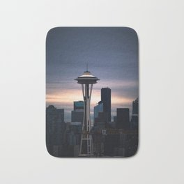 Space Needle Sunset - Seattle Nights Bath Mat