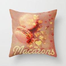 Love Macarons! Throw Pillow