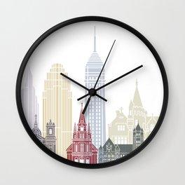 Minneapolis V2 skyline poster Wall Clock