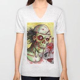 zombie patient Unisex V-Neck
