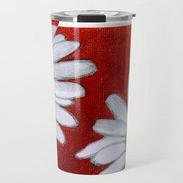 Daisies in red Travel Mug