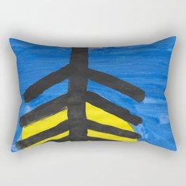 Fish bone watercolor Rectangular Pillow