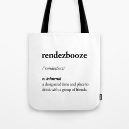 Rendezbooze black and white contemporary minimalism typography design home wall decor bedroom Tote Bag