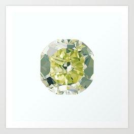 Green diamond  Art Print