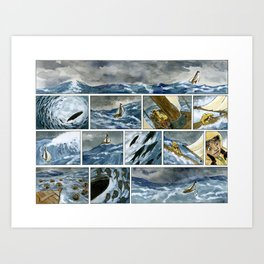 Untitled (A Girl and her Boat) Art Print