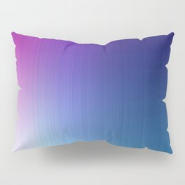 Fuchsia Blue Ombre Pillow Sham