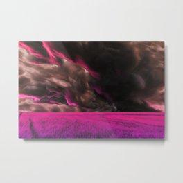 Psychedelic Fuchsia Fields Metal Print