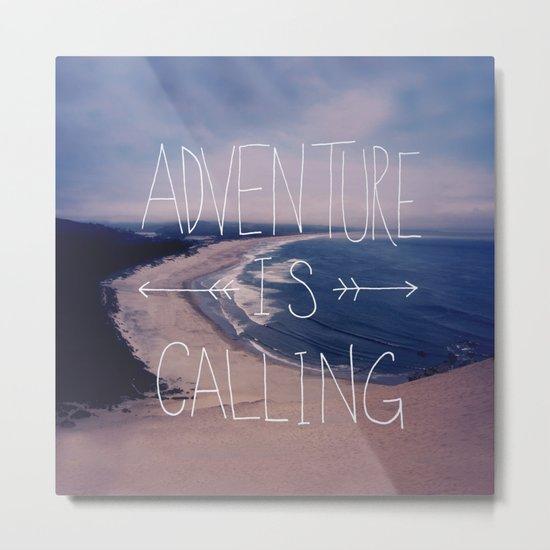 Adventure is Calling Metal Print