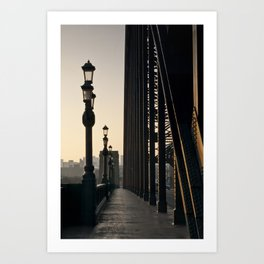 Walk Over The Tyne from Newcastle Art Print