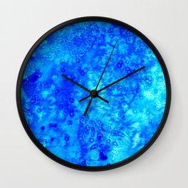 Winter Crystals Wall Clock