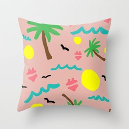 Beachy Keen By the Sea Throw Pillow